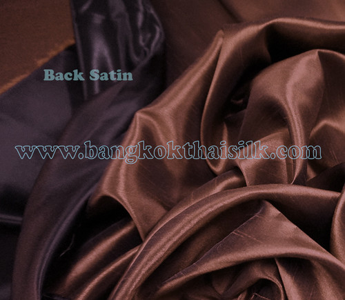 Heavy Silky Dupioni with Satin Back Fabric - Chocolate Brown