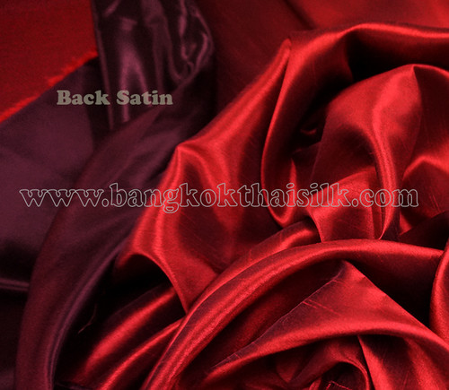 Heavy Silky Dupioni with Satin Back Fabric - Dark Red