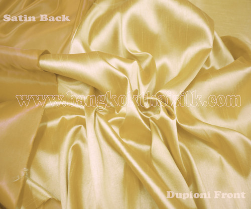 Heavy Silky Dupioni with Satin Back Fabric - Gold
