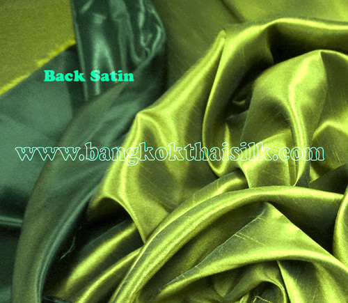 Heavy Silky Dupioni with Satin Back Fabric - Olive Green
