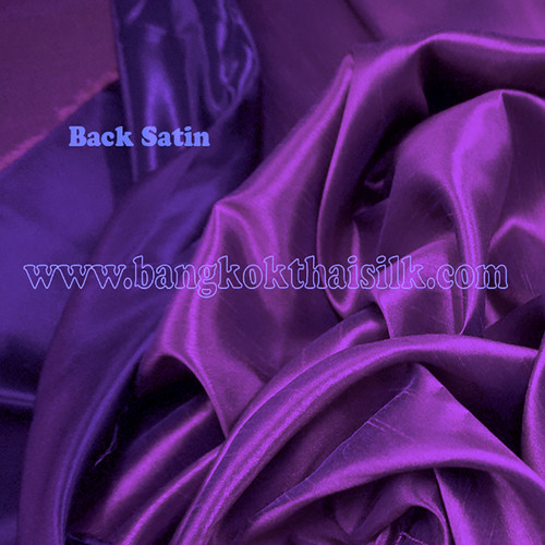 Heavy Silky Dupioni with Satin Back Fabric - Royal Purple