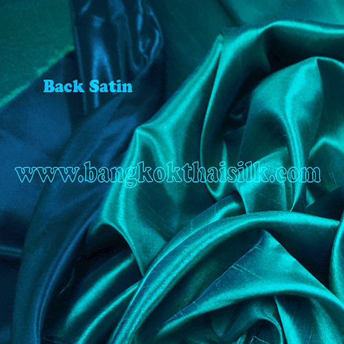 Heavy Silky Dupioni with Satin Back Fabric - Teal Green.