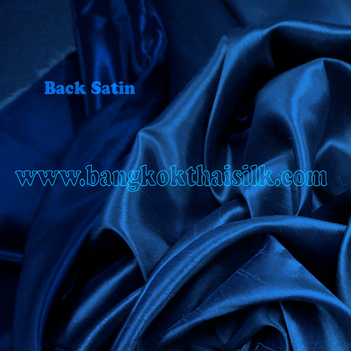 Heavy Silky Dupioni with Satin Back Fabric - Dark Blue