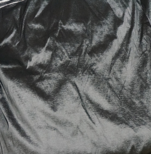 4-Way Stretch Taffeta Faux Silk Fabric - Dark Silver Gray