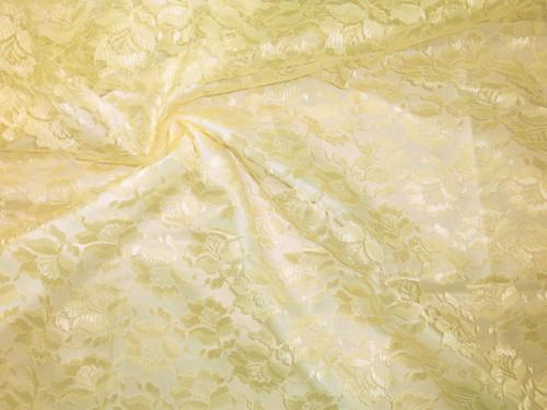 Freesia Flower Net Mesh Fabric - Yellow Canary