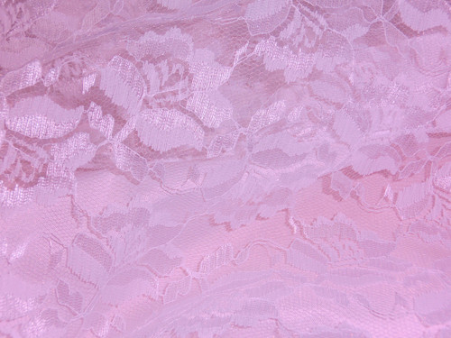Freesia Flower Net Mesh Fabric - Primrose Pink