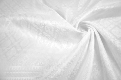 "Thai Silk Damask 40""W Fabric - White"