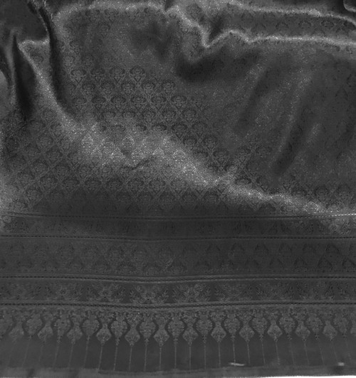 "Thai Silk Damask 40""W Fabric - Black"
