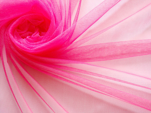 "Soft Net Stretch Tulle 60""W - Hot Pink"