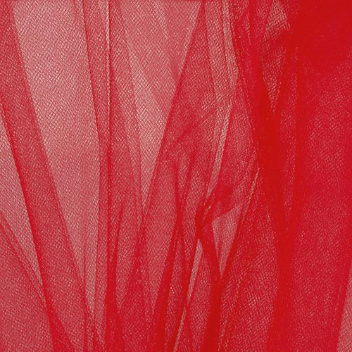 """Soft Net Stretch Tulle 60""""W - Red"""