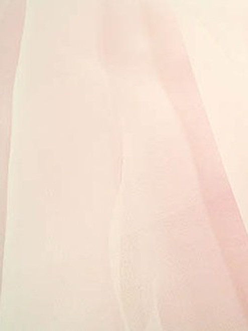 "Organdy Faux Silk Fabric 60""W - NUDE"