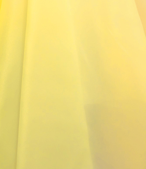 "Organdy Faux Silk Fabric 60""W - YELLOW"