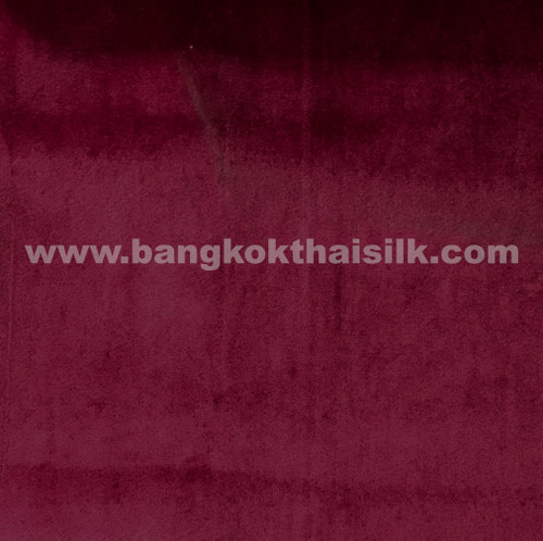 "Soft Velvet Light Upholstery 60""W - Burgundy Red"