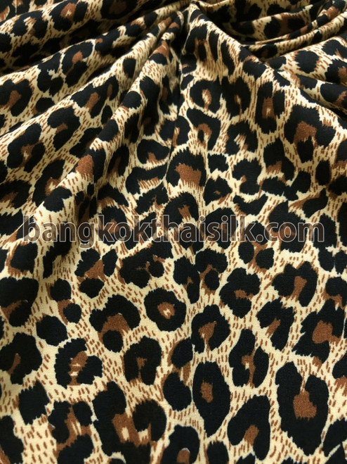"Cheetah Leopard Animal Print 100% COTTON 44""W Fabric"