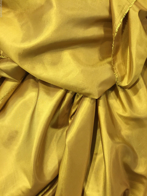 "Gold Faux Silk Taffeta 60""W Fabric"