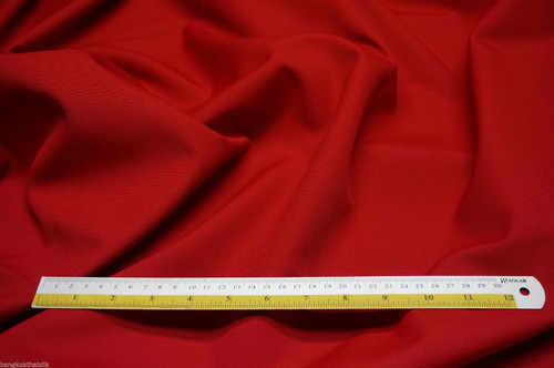 Cotton Canvas Outdoor Water Resistant UV Fabric - RED