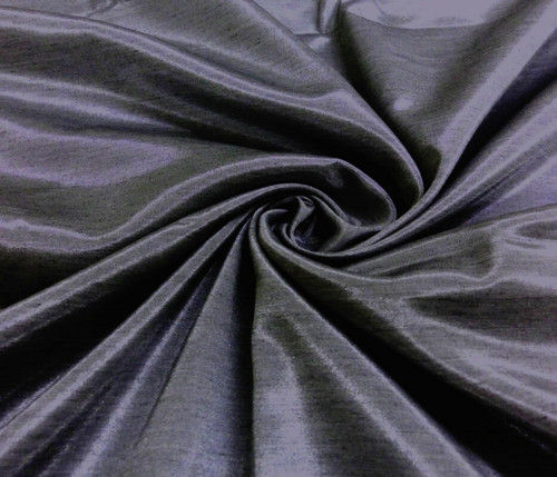 Silkatene Faux Silk Fabric - Dark Gray