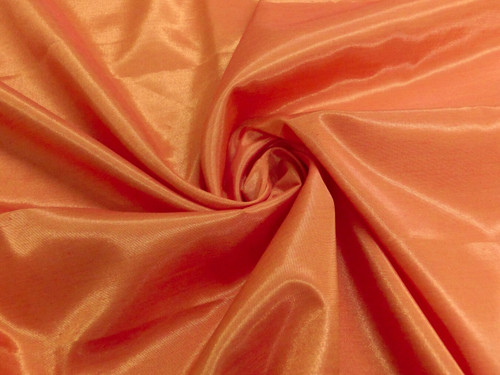 Silkatene Faux Silk Fabric - Orange Firefly