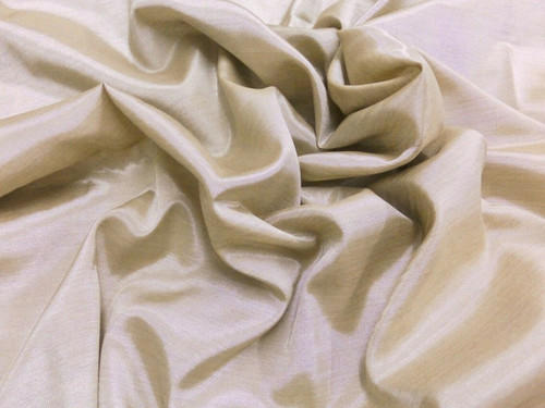 Silkatene Faux Silk Fabric - Tan Champagne