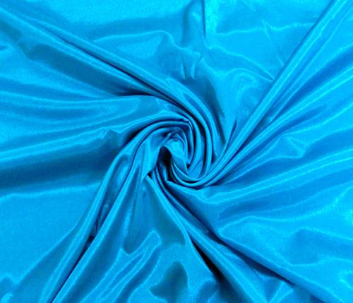 Silkatene Faux Silk Fabric -Turquoise Blue