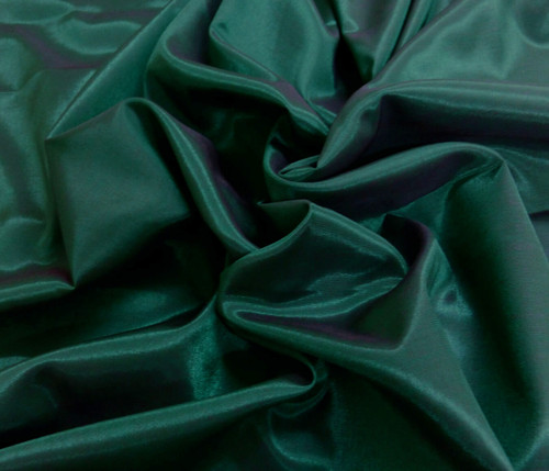 Silkatene Faux Silk Fabric - Hunter Green