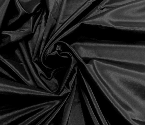 Silkatene Faux Silk Fabric - Black