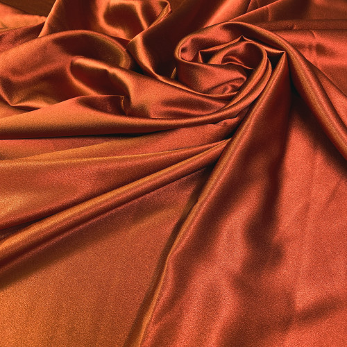 "Duchess Satin Fabric 60""W Heavy Weight - Terry Cotta"