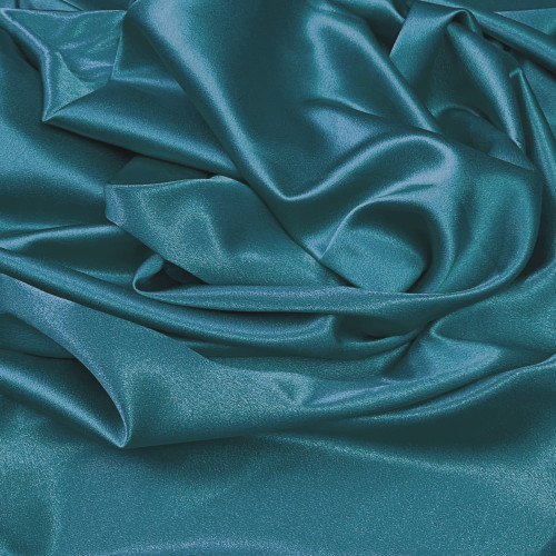 "Duchess Satin Fabric 60""W Heavy Weight - Grayish Blue"
