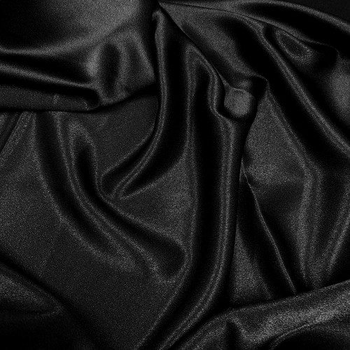 "Duchess Satin Fabric 60""W Heavy Weight - Black"