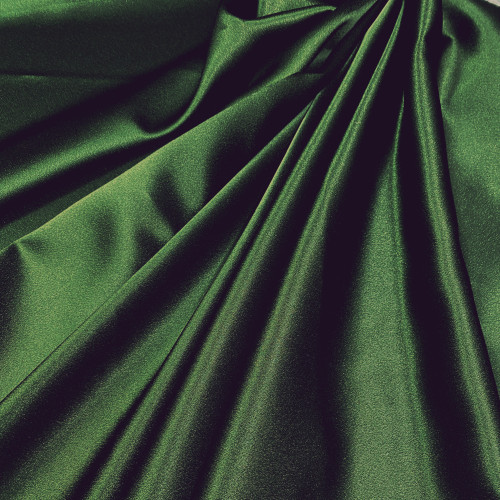"Duchess Satin Fabric 60""W Heavy Weight - Forest Green"