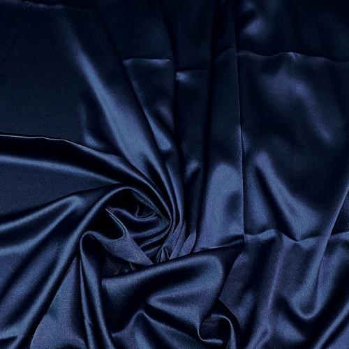"Duchess Satin Fabric 60""W Heavy Weight - Dark Blue"