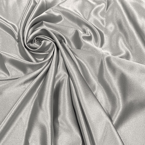 "Duchess Satin Fabric 60""W Heavy Weight - Smoke Gray"