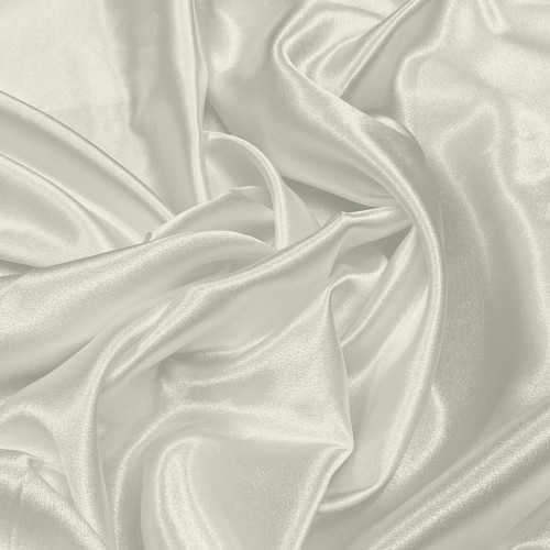 "Duchess Satin Fabric 60""W Heavy Weight - OFF WHITE"