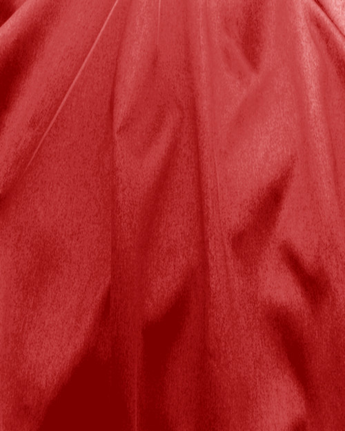"Italian Faux Silk Fabric 58""W - RED"