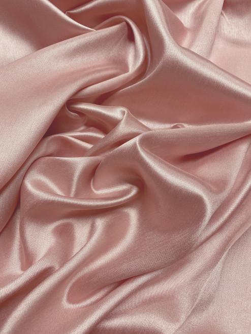 """Italian Faux Silk Fabric 58""""W - Salmon Pink"""