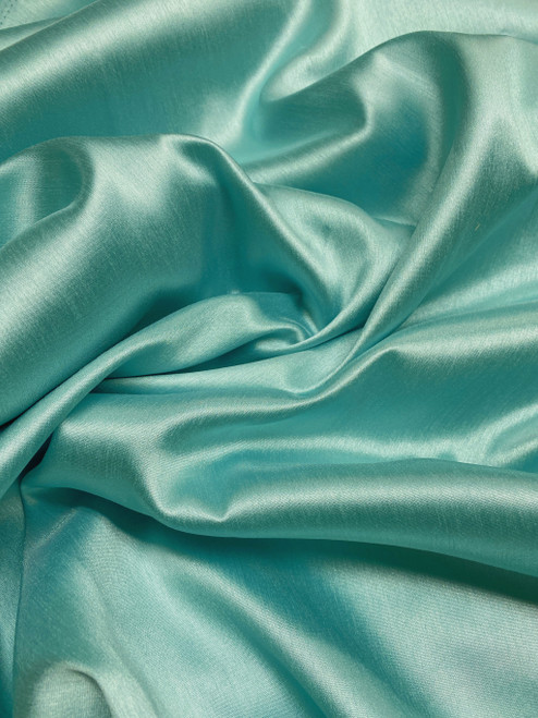 "Italian Faux Silk Fabric 58""W - Mint Green"