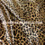 "Cheetah Leopard Animal Print Satin 48""W Fabric - Gold Brown"