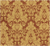 Damask Faux Silk Fabric - Cinnamon & Gold