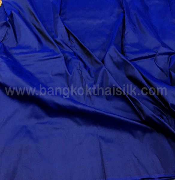 Cobalt Blue Shot Black 100% Authentic Silk Fabric Material!