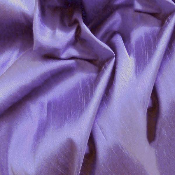 "Faux Silk Caprice Dupioni 60""W Fabric - Lavender Purple"