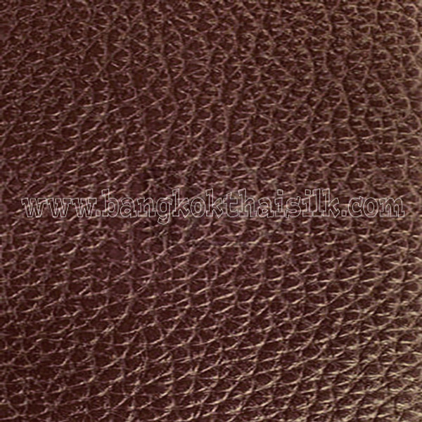 Faux Calf Leather Fabric - Chocolate