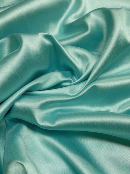"""Italian Faux Silk Fabric 58""""W - Mint Green"""