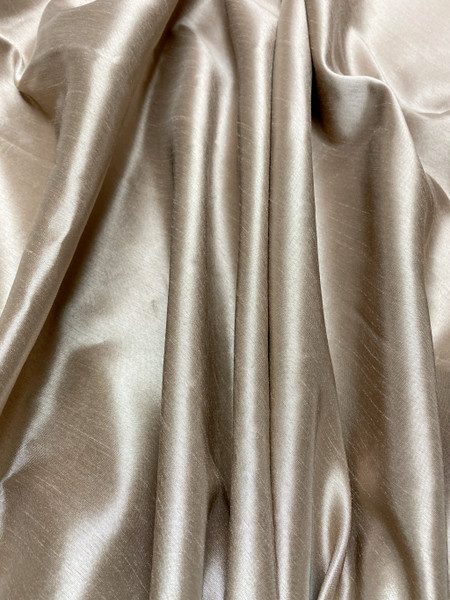 "Italian Faux Silk Fabric 58""W - Golden Brown"