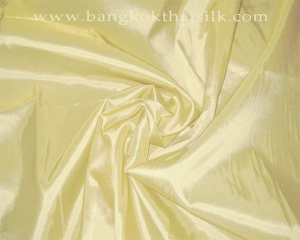 "Butter Yellow Faux Silk Taffeta 60""W Fabric"