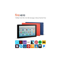 "Fire HD 10 Tablet with Alexa Hands-Free, 10.1"" 1080p Full HD Display"