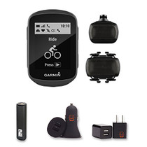 Garmin Edge 130 - Compact, Easy-to-use GPS Bike Computer, Speed and Cadence Bundle, With PowerBank, USB Car Charger, USB Wall Charger, EZEE Bundle