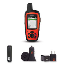 Garmin inReach Explorer+ with PowerBank, USB Car Charger, USB Wall Charger, EZEE Bundle