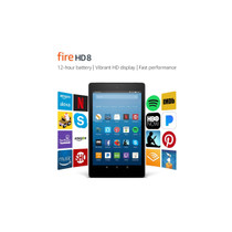 "Amazon Fire HD 8 Tablet with Alexa, 8"" HD Display, 16 GB, Black"