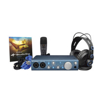 PreSonus AudioBox iTwo Studio USB 2.0 Recording Bundle with Interface - Headphones - Microphone and Studio One software
