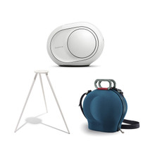 Devialet Phantom Reactor 900 Watts - 98 dB Bundle with Devialet Legs in White and Devialet Cocoon Case in Blue (3 Items)